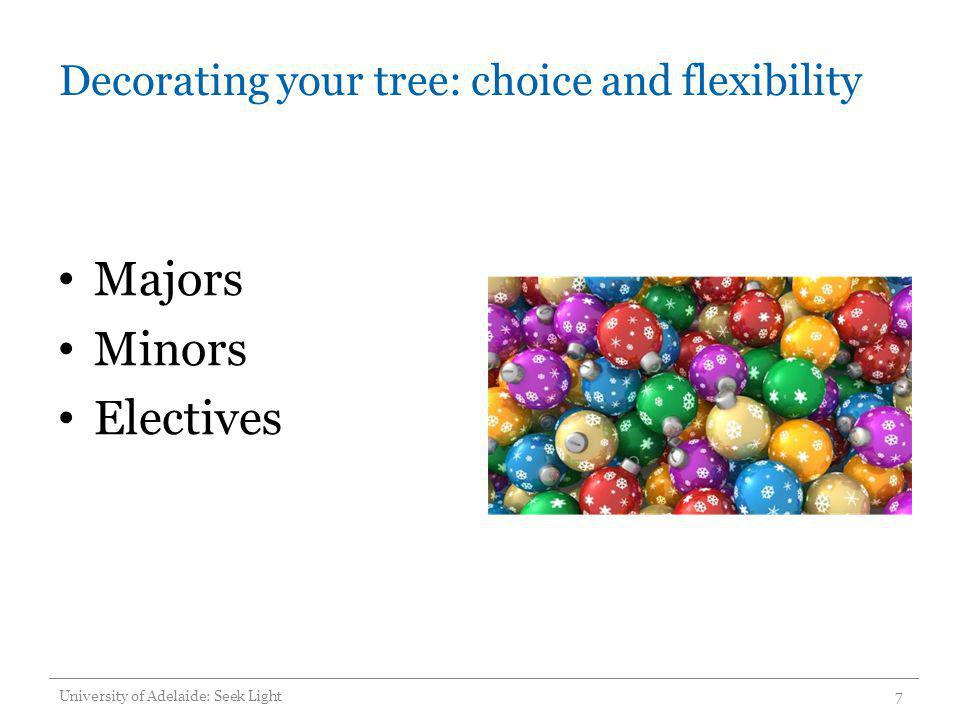 Decorating your tree: choice and flexibility