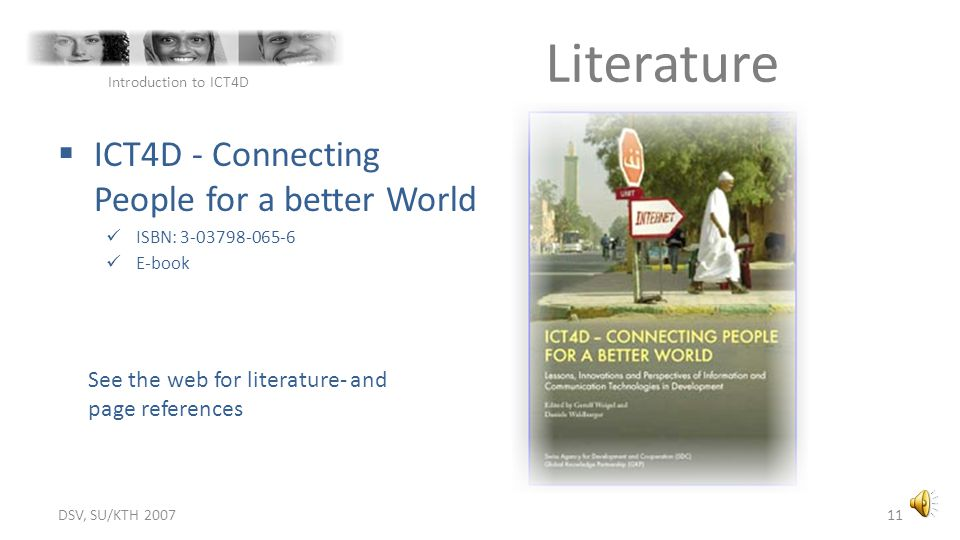 Literature ICT4D - Connecting People for a better World