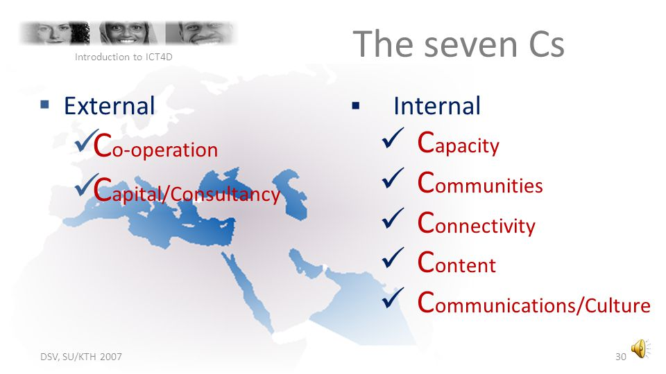 The seven Cs Co-operation Capital/Consultancy Capacity Communities