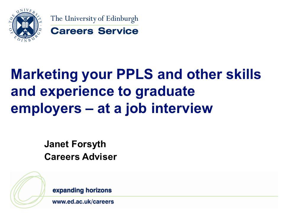 Janet Forsyth Careers Adviser