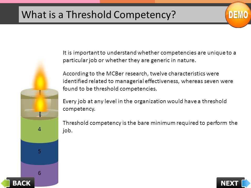 What is a Threshold Competency