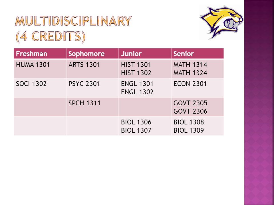 Multidisciplinary (4 credits)