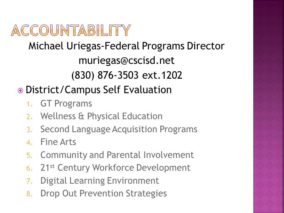 Michael Uriegas-Federal Programs Director