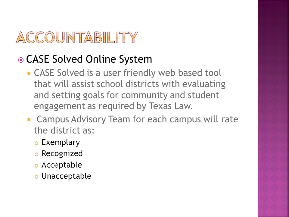 Accountability CASE Solved Online System