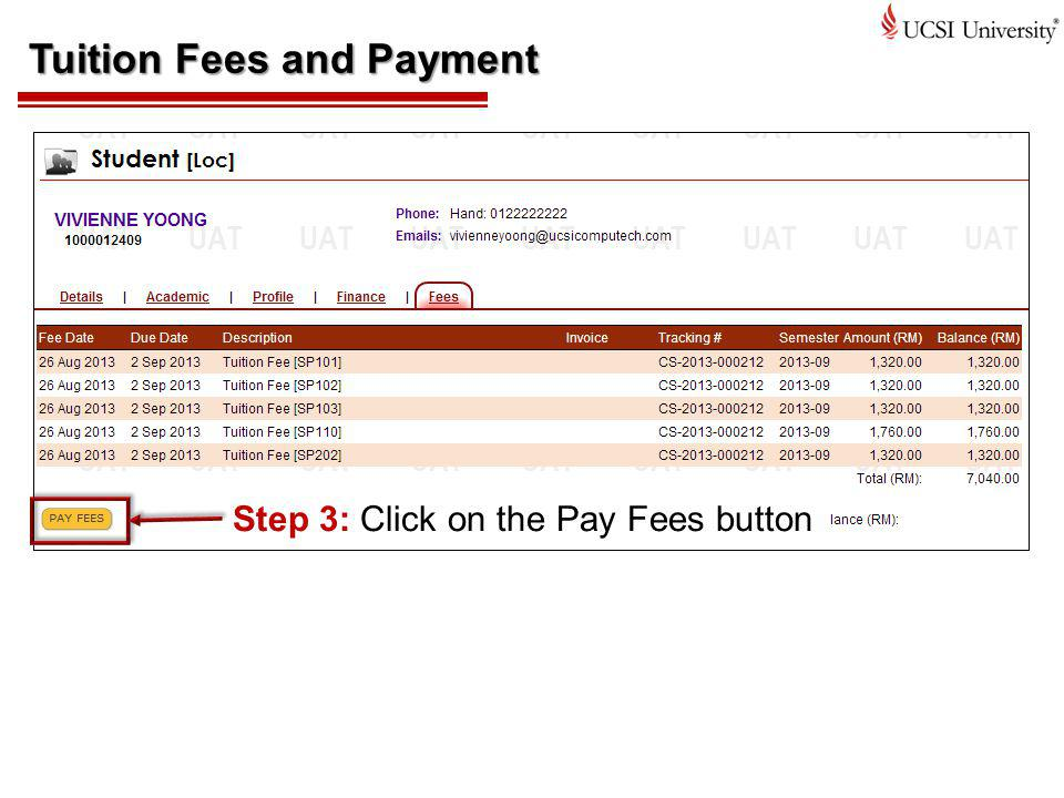 Tuition Fees and Payment