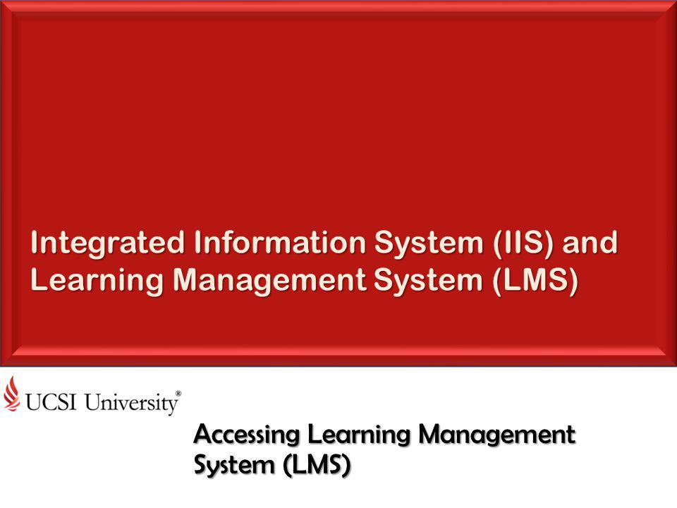 Accessing Learning Management System (LMS)