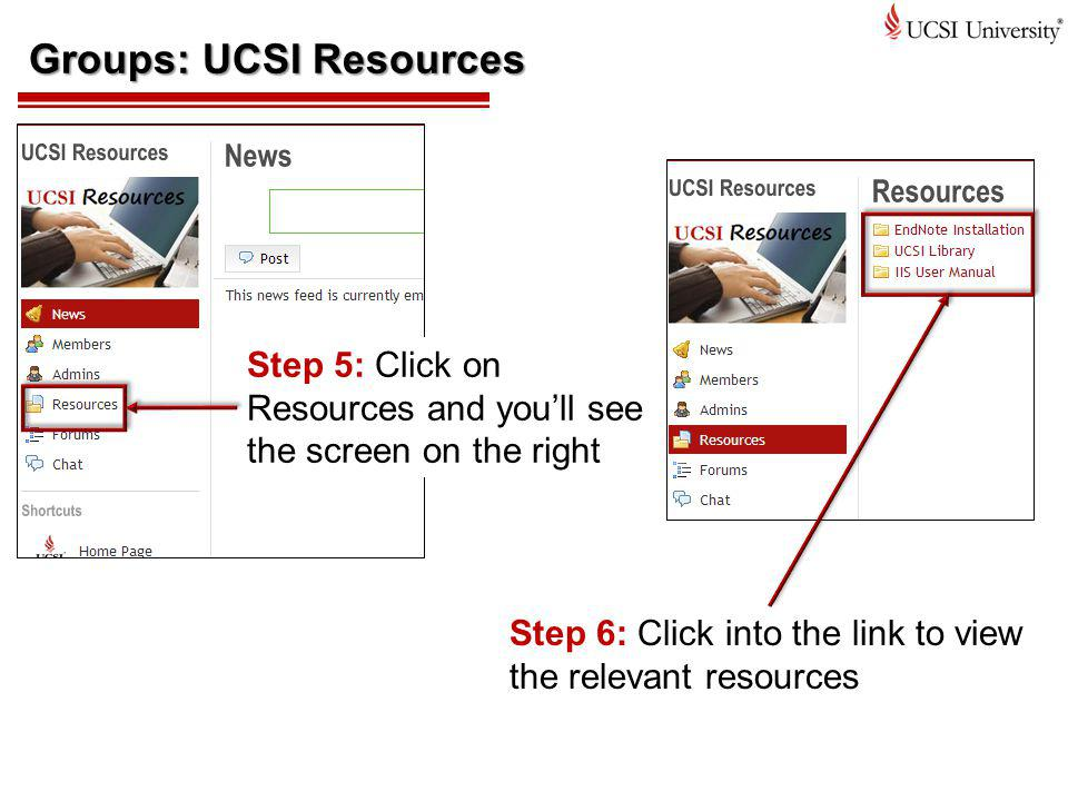 Groups: UCSI Resources