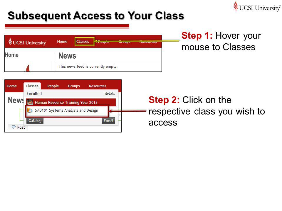 Subsequent Access to Your Class