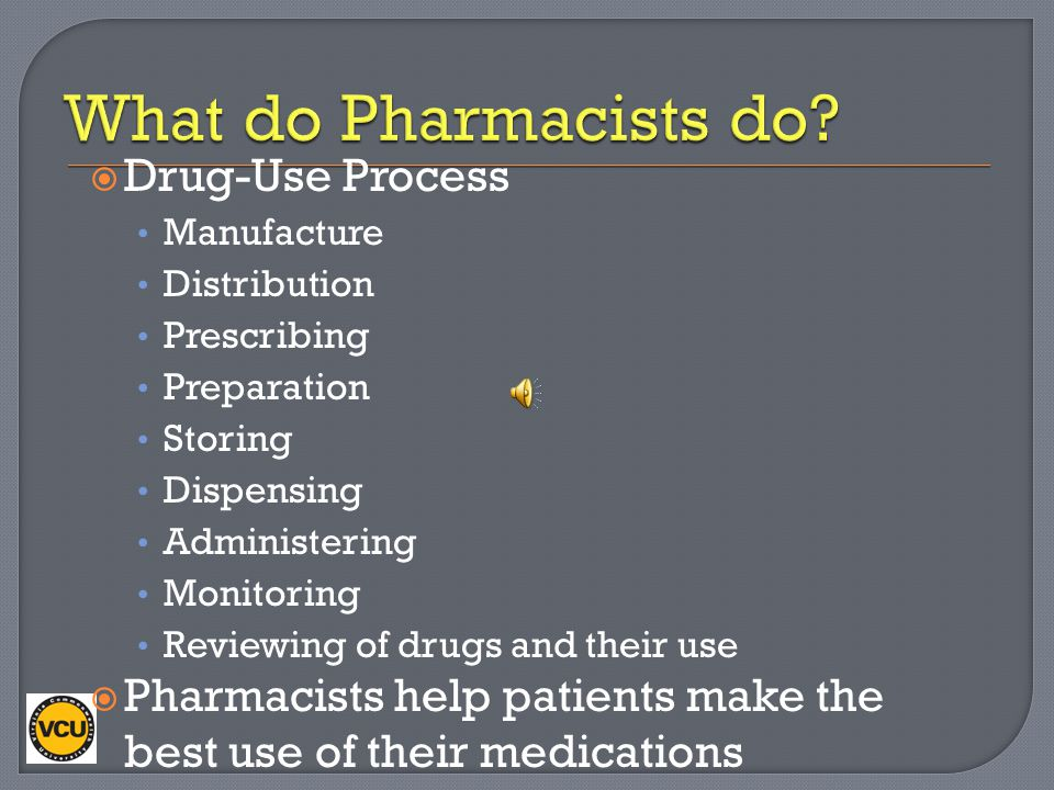 What do Pharmacists do Drug-Use Process