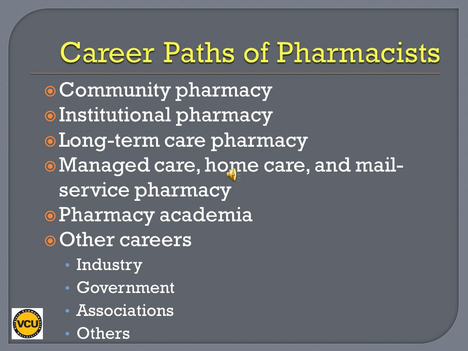 Career Paths of Pharmacists