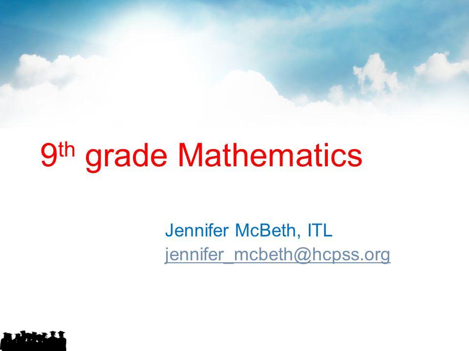 Jennifer McBeth, ITL jennifer_mcbeth@hcpss.org