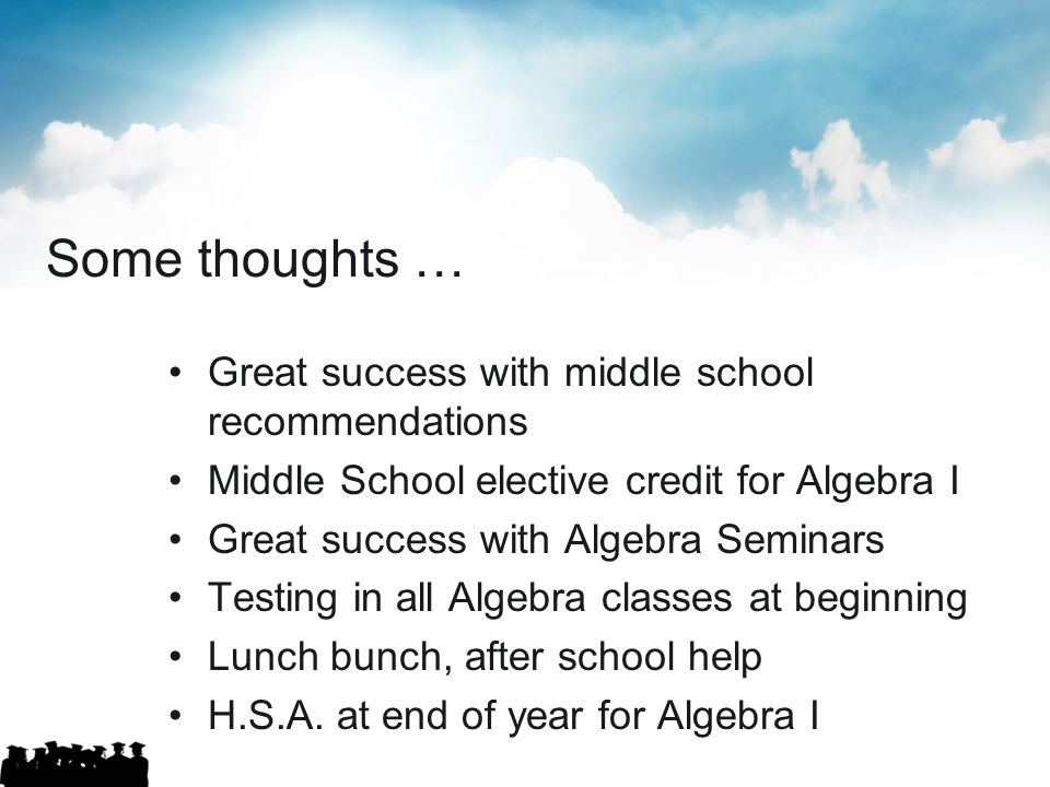 Some thoughts … Great success with middle school recommendations