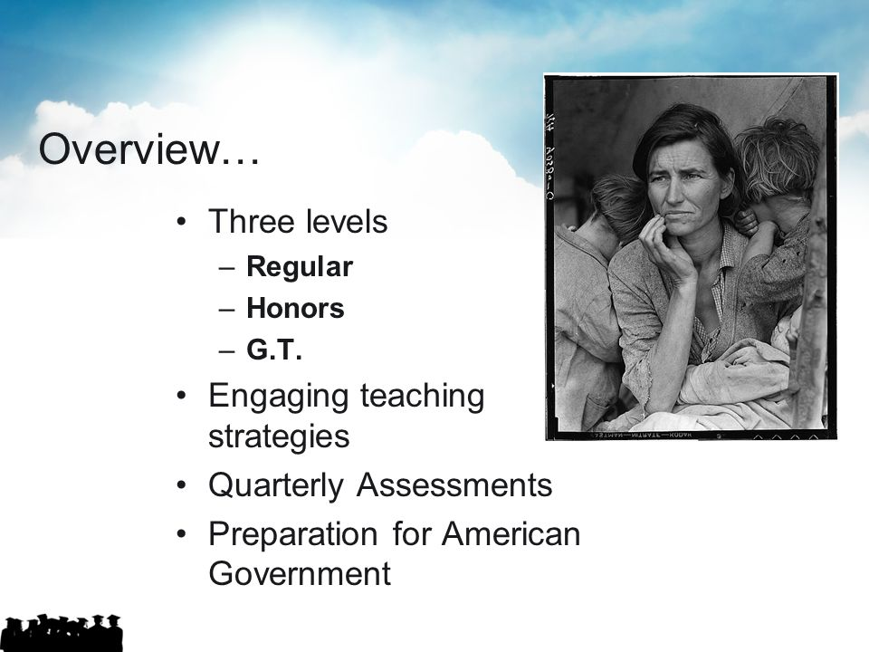 Overview… Three levels Engaging teaching strategies