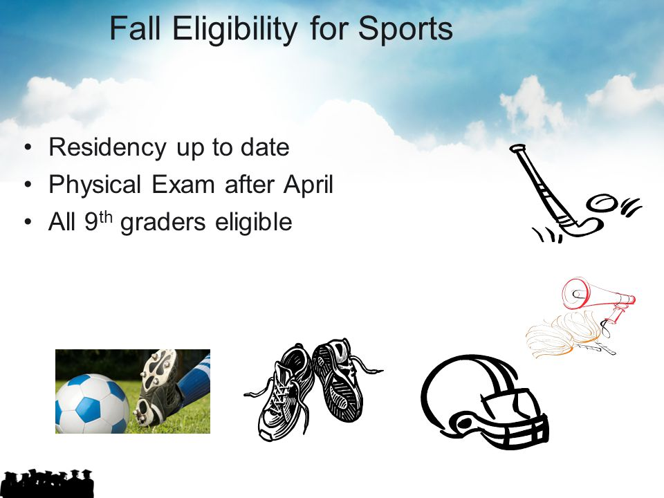 Fall Eligibility for Sports