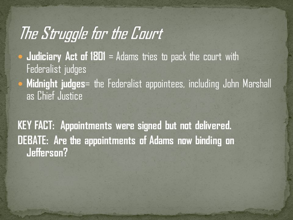 The Struggle for the Court