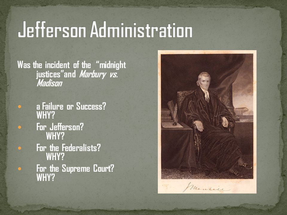 Jefferson Administration