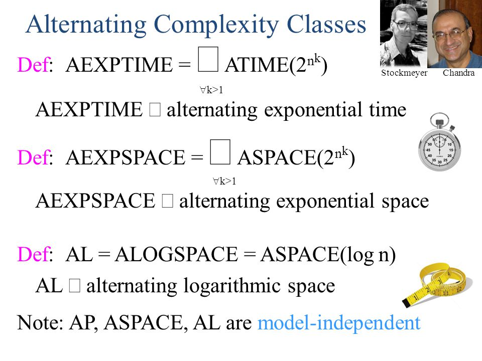 Alternating Complexity Classes
