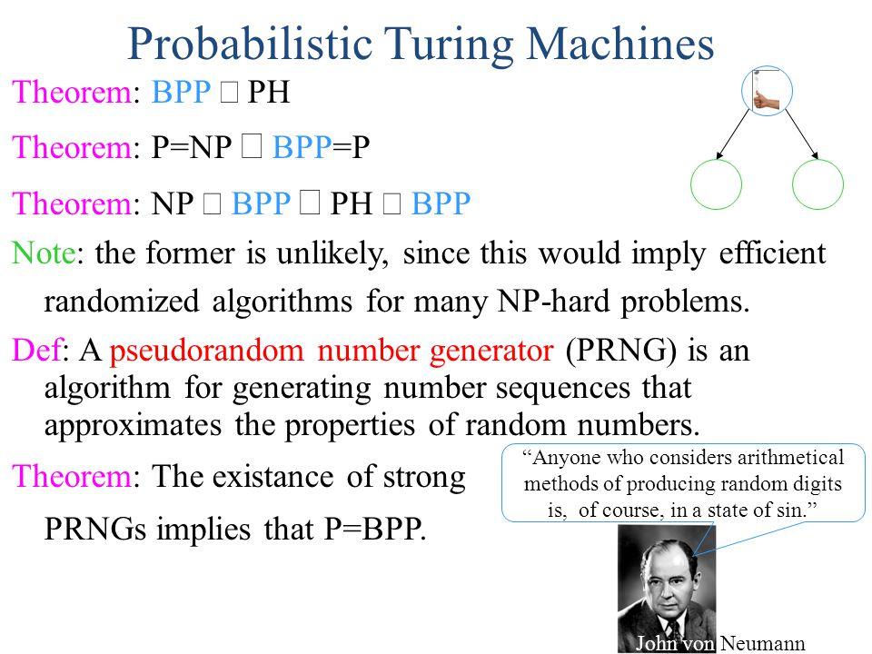 Probabilistic Turing Machines