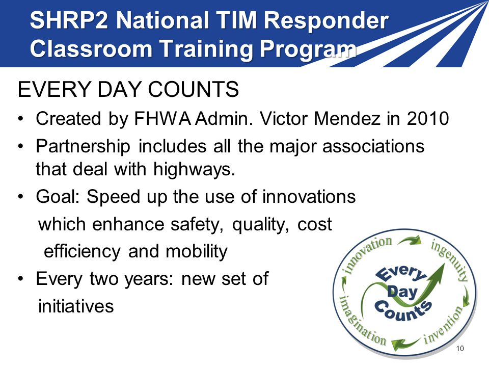 SHRP2 National TIM Responder Classroom Training Program