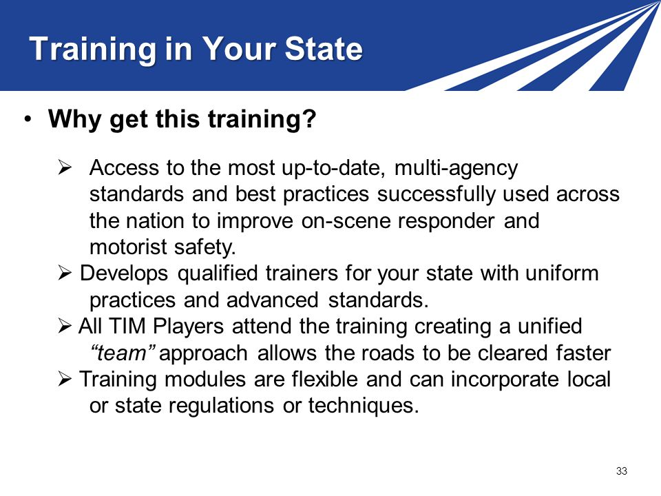 Training in Your State Why get this training