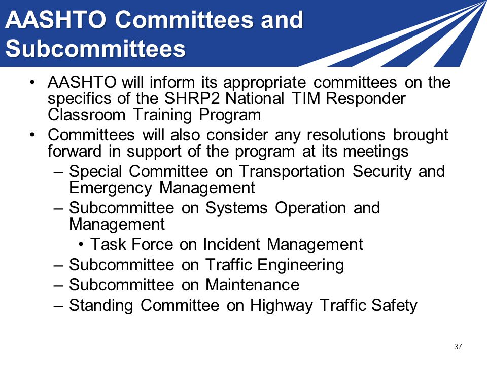 AASHTO Committees and Subcommittees