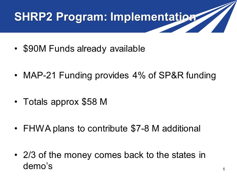 SHRP2 Program: Implementation