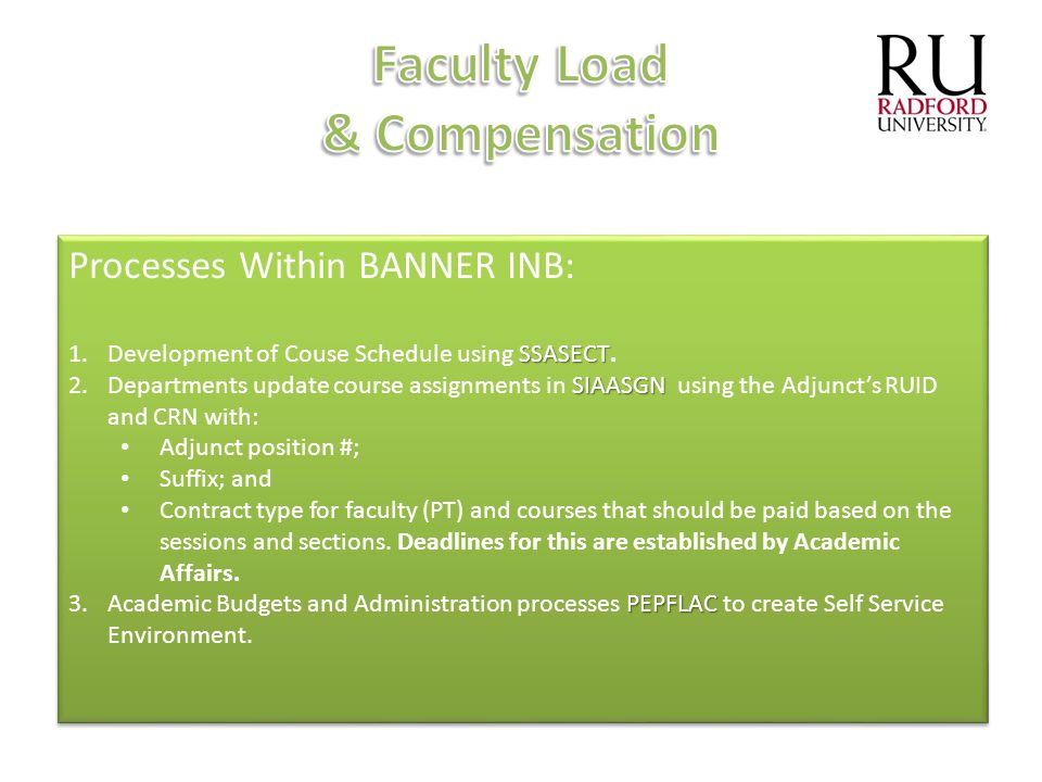 Faculty Load & Compensation