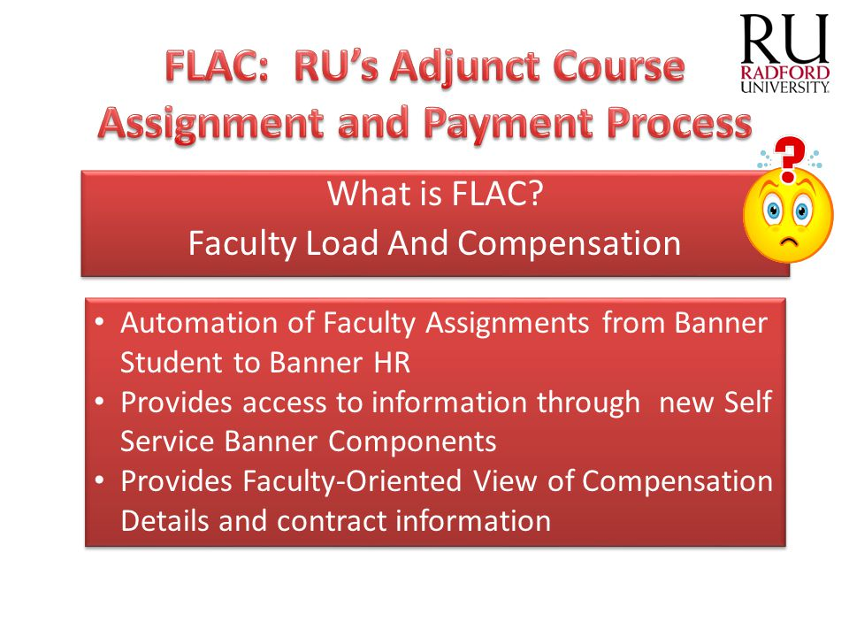 FLAC: RU's Adjunct Course Assignment and Payment Process