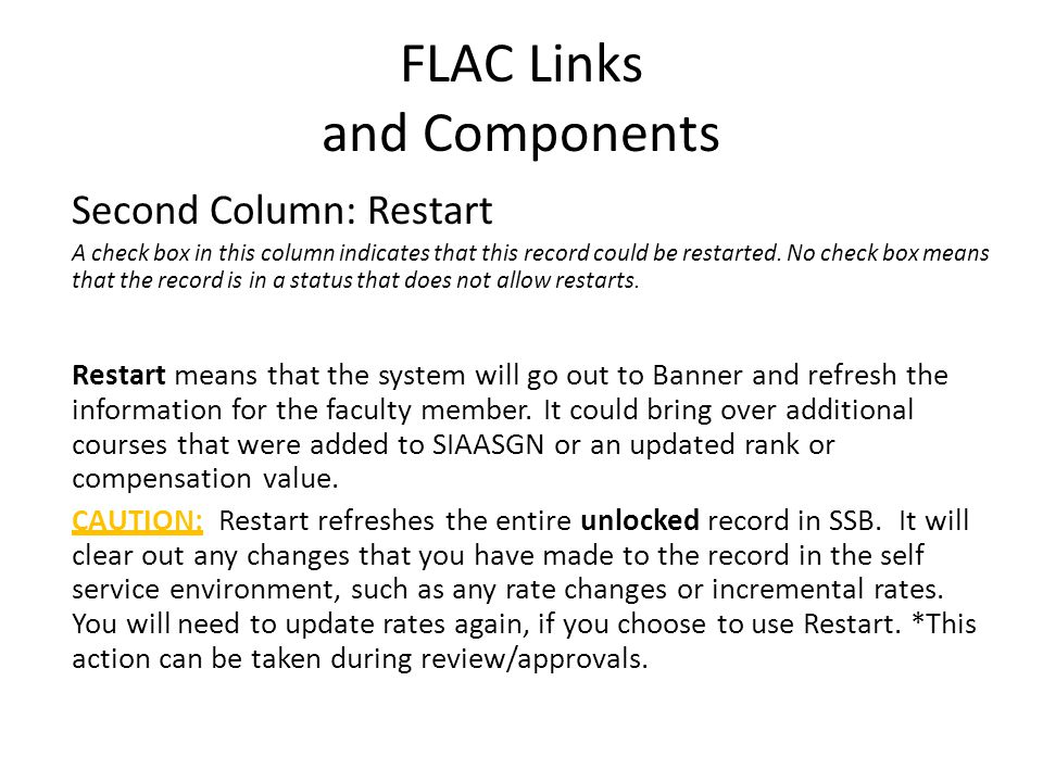 FLAC Links and Components