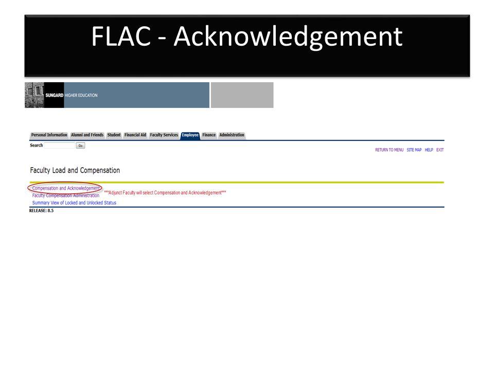 FLAC - Acknowledgement