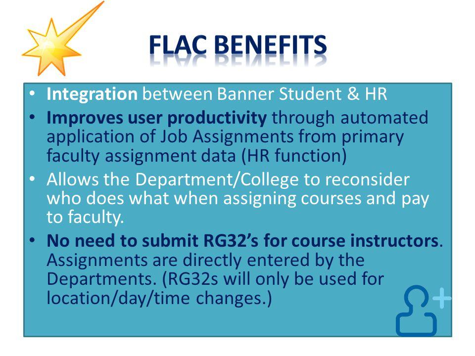 FLAC Benefits Integration between Banner Student & HR