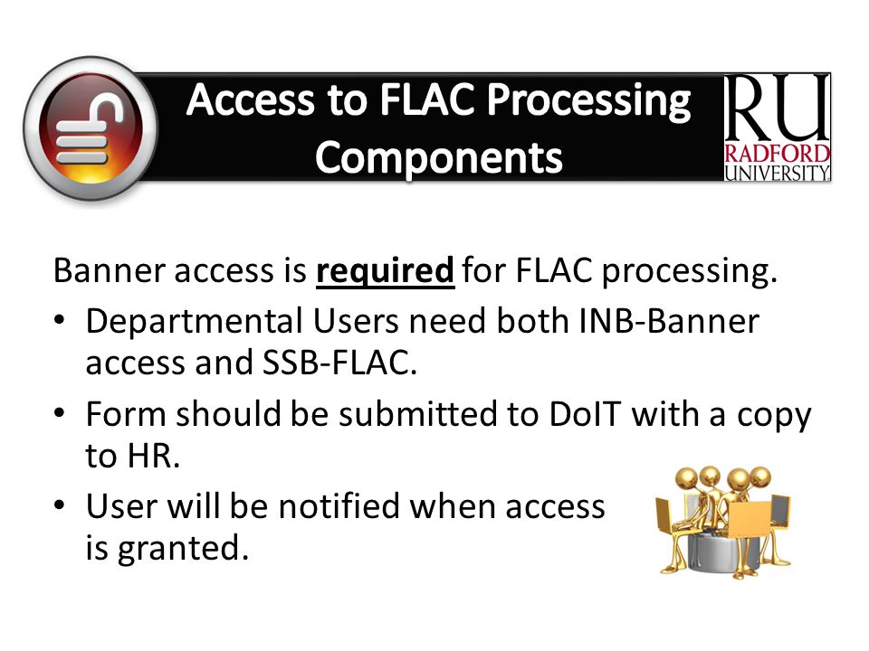 Access to FLAC Processing Components