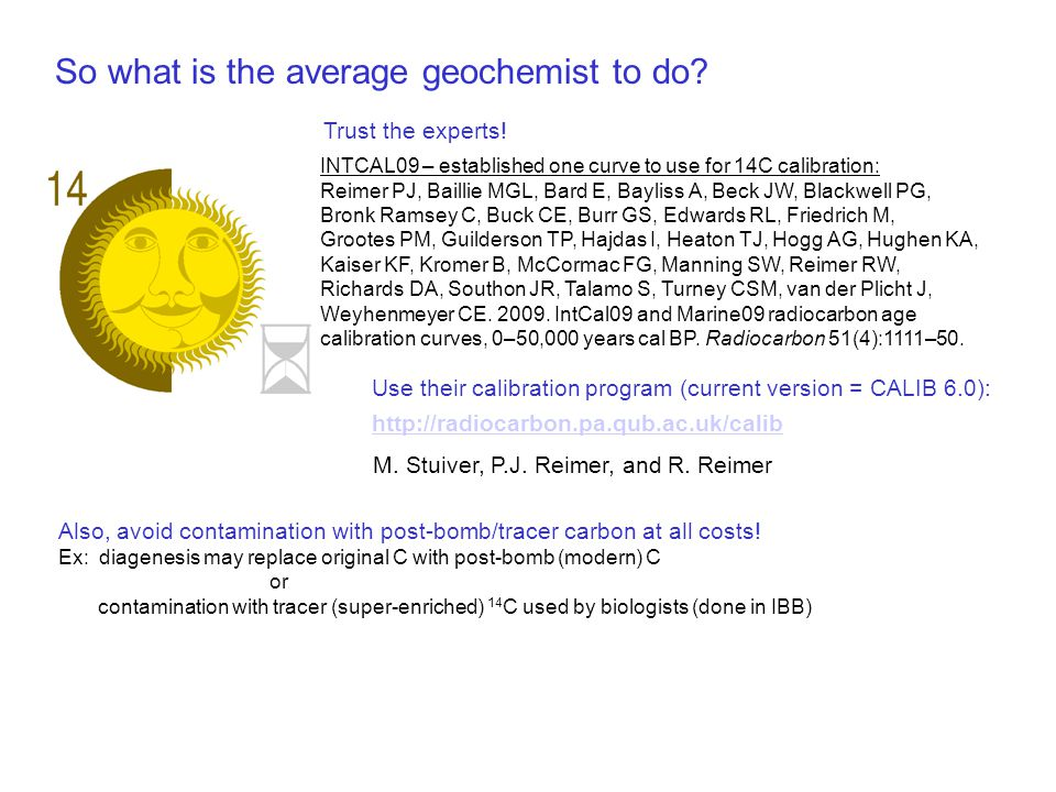 So what is the average geochemist to do