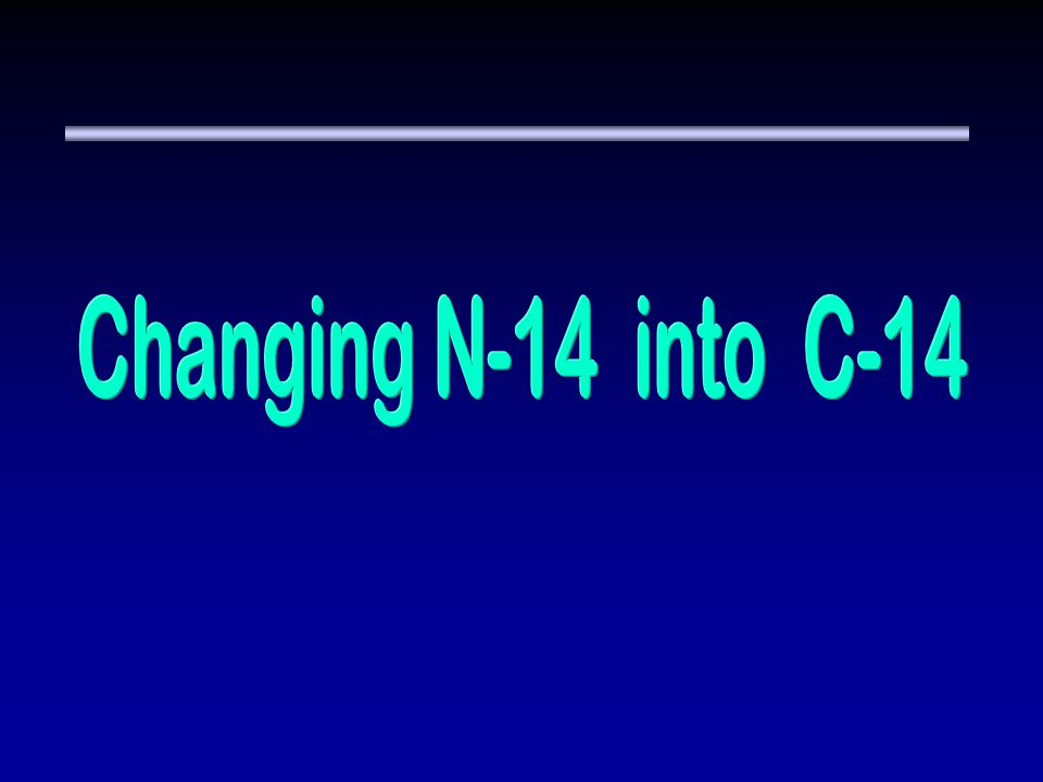 Changing N-14 into C-14