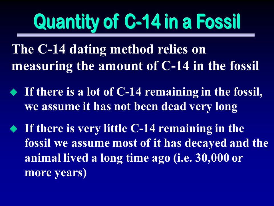 Quantity of C-14 in a Fossil