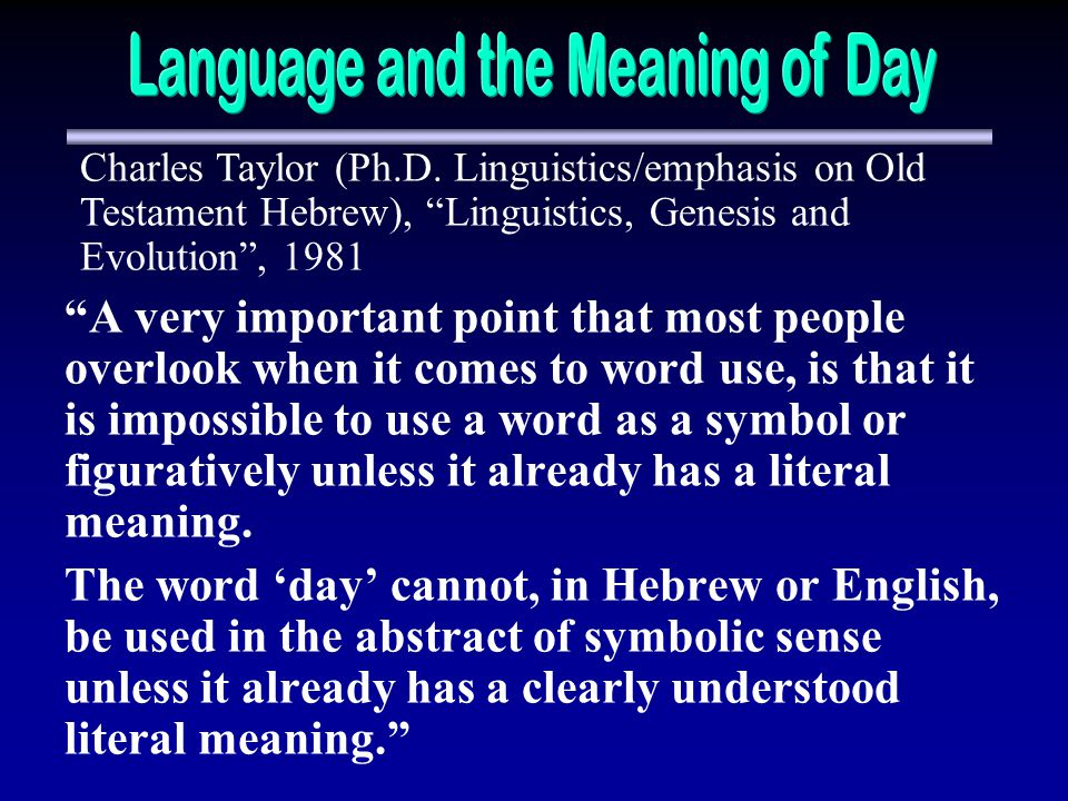 Language and the Meaning of Day