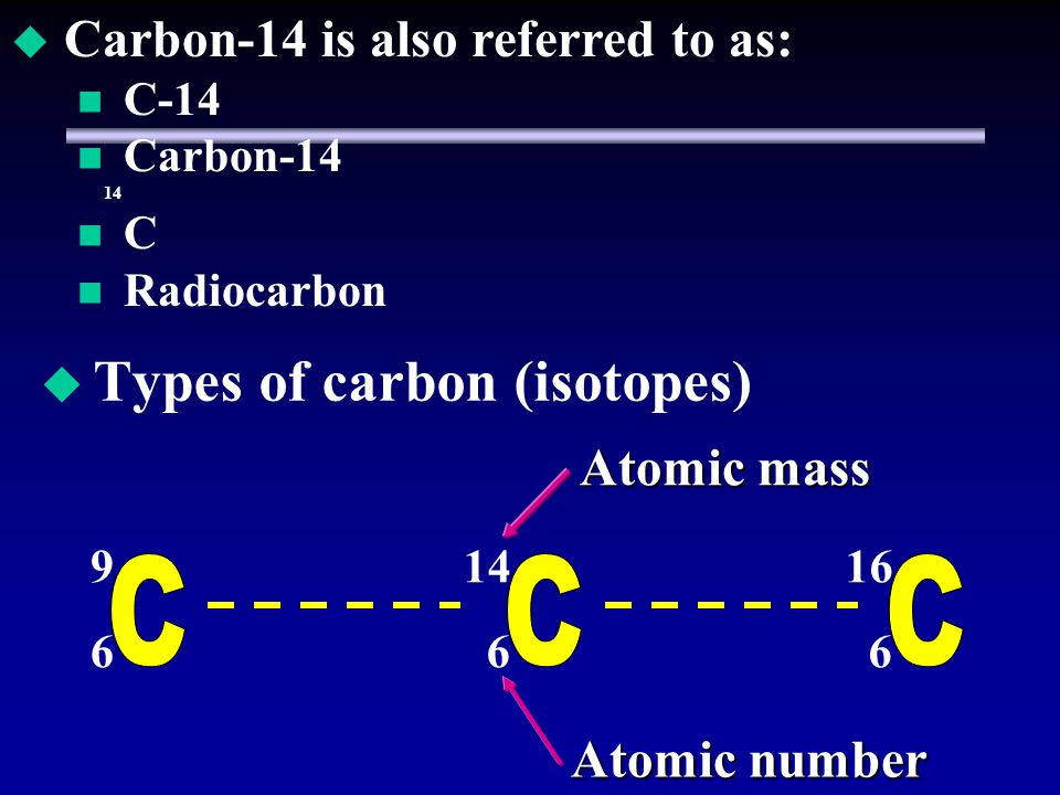 Types of carbon (isotopes)