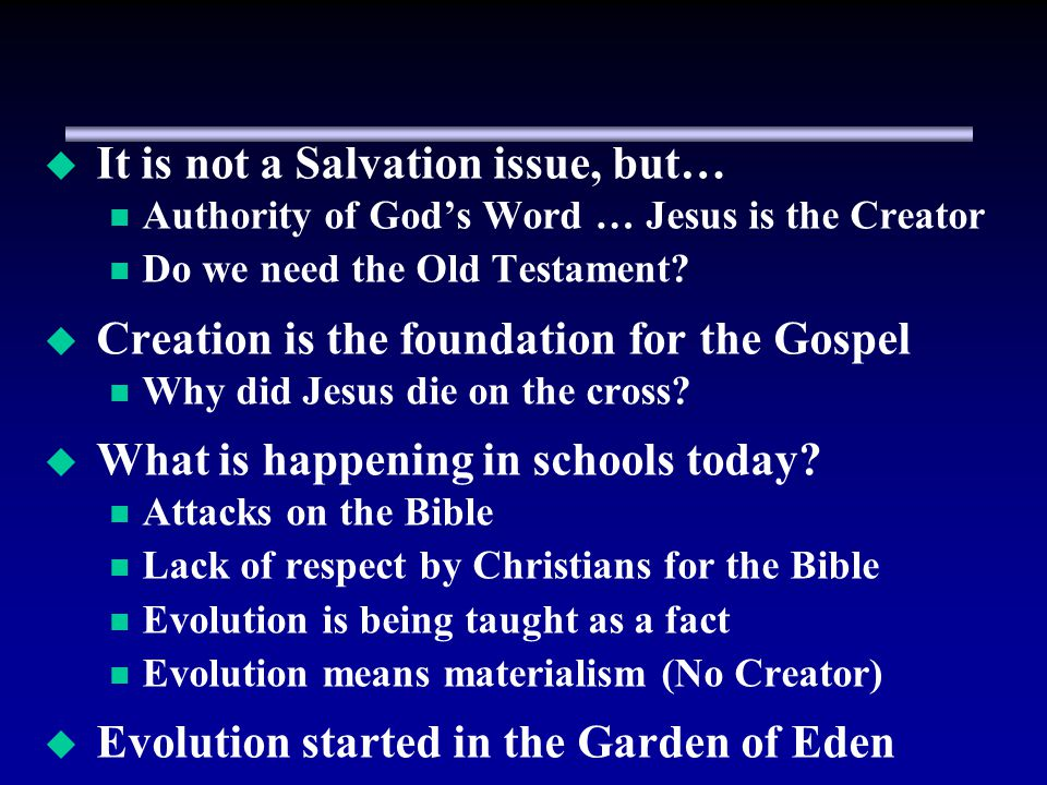 It is not a Salvation issue, but…