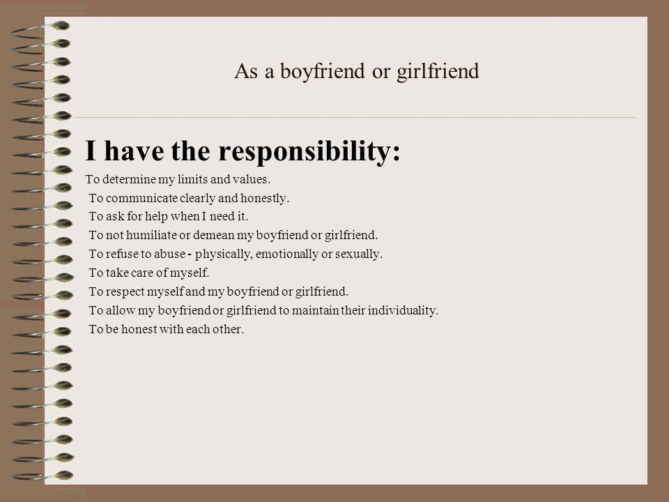 As a boyfriend or girlfriend