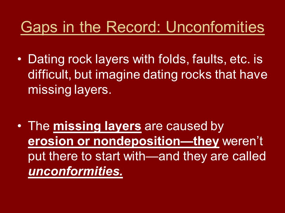 Gaps in the Record: Unconfomities