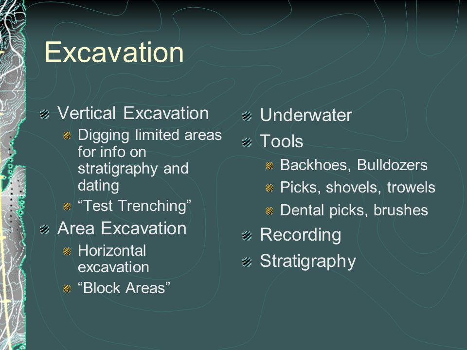 Excavation Vertical Excavation Area Excavation Underwater Tools