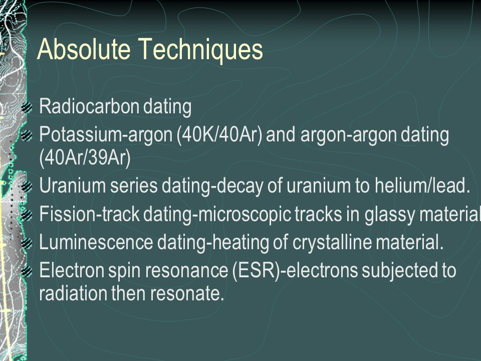 dating alys perez ending of gone: electron spin resonance absolute dating science