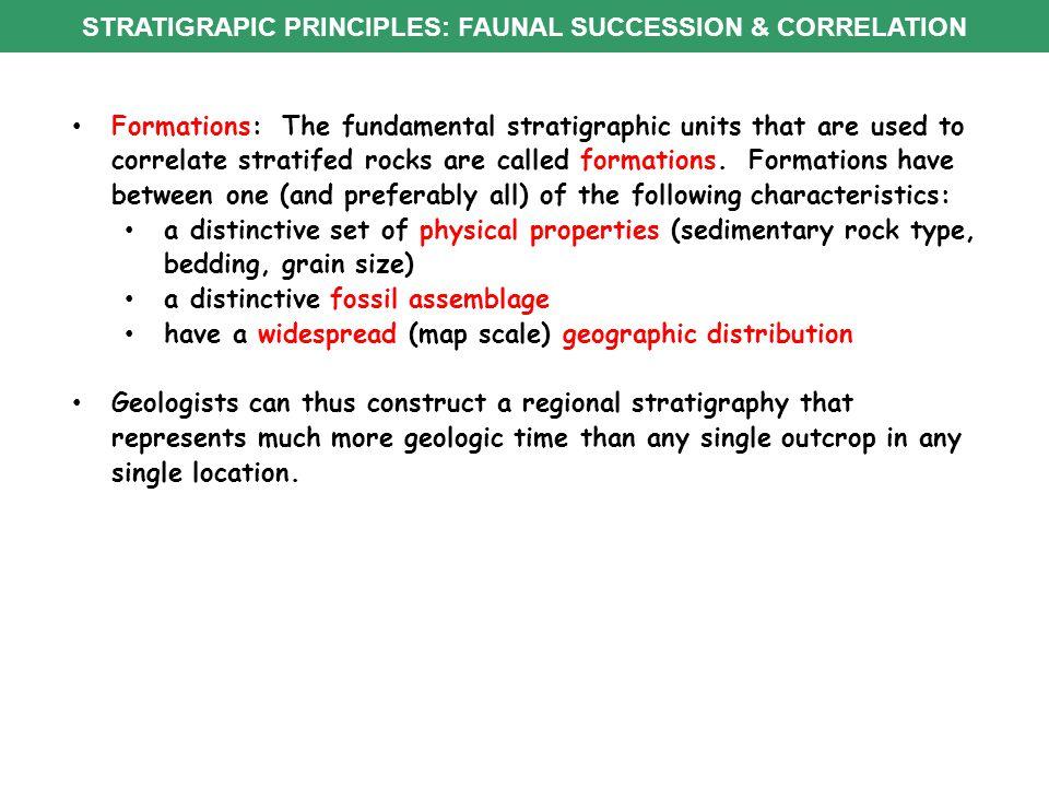 STRATIGRAPIC PRINCIPLES: FAUNAL SUCCESSION & CORRELATION