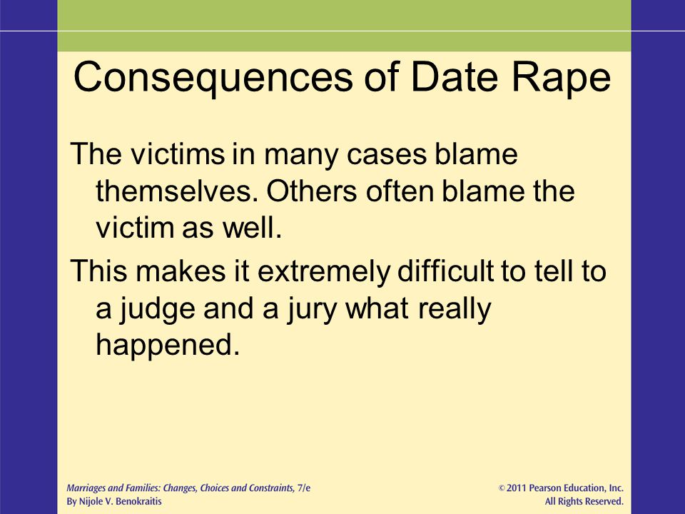 Consequences of Date Rape