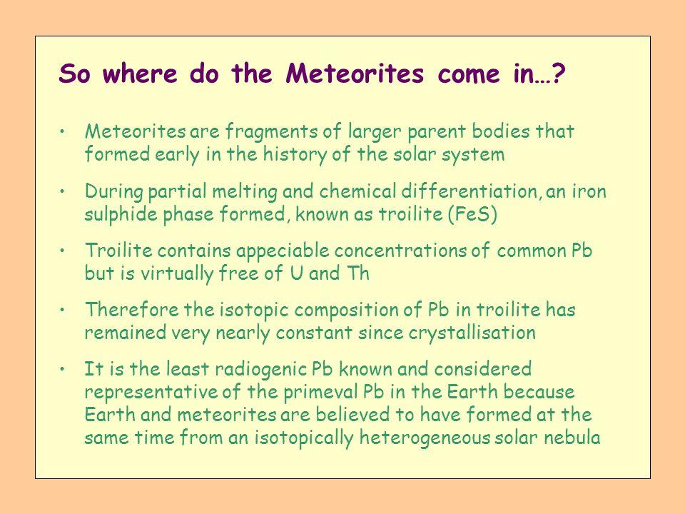 So where do the Meteorites come in…