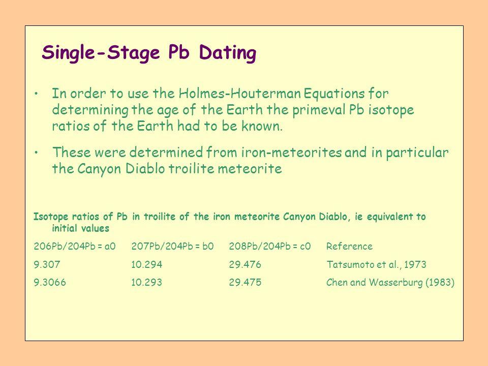Single-Stage Pb Dating