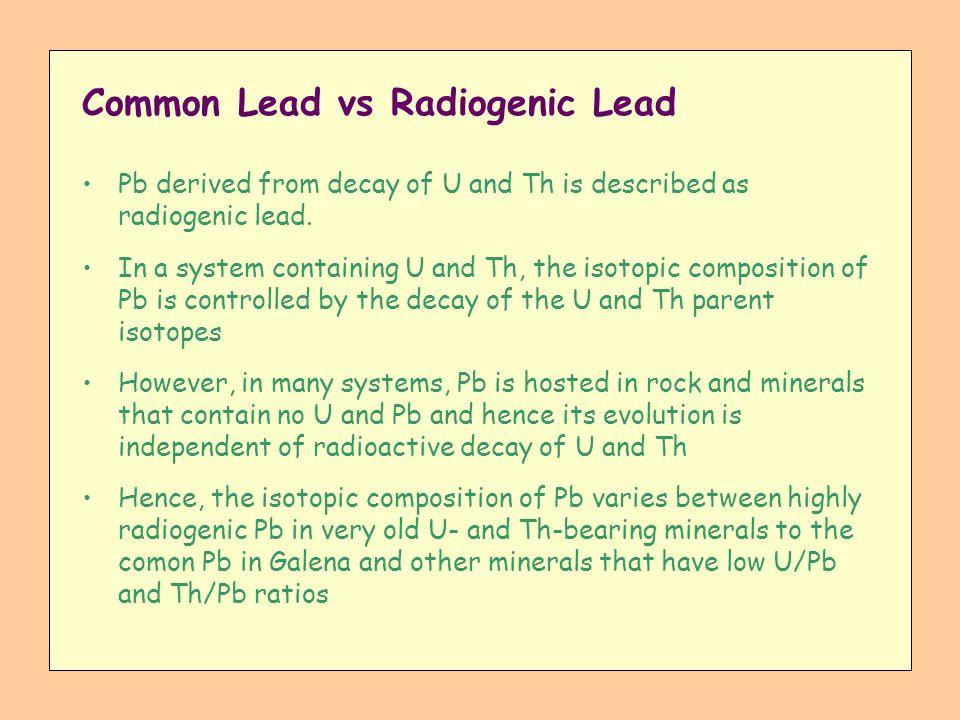 Common Lead vs Radiogenic Lead