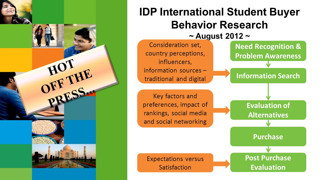 HOT OFF THE PRESS... IDP International Student Buyer Behavior Research