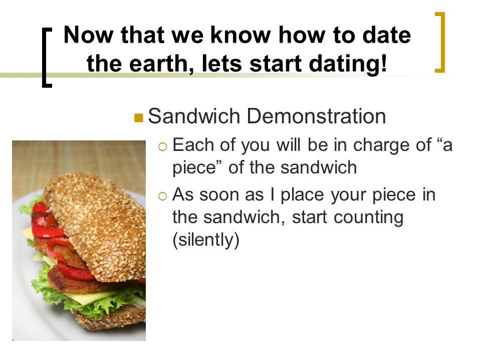 Now that we know how to date the earth, lets start dating!