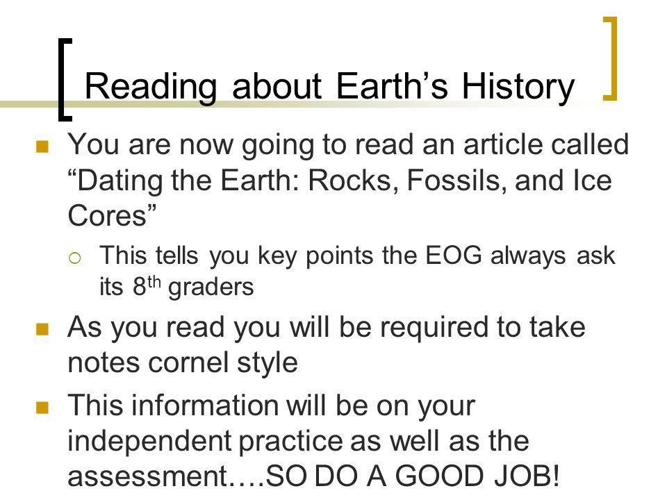 Reading about Earth's History